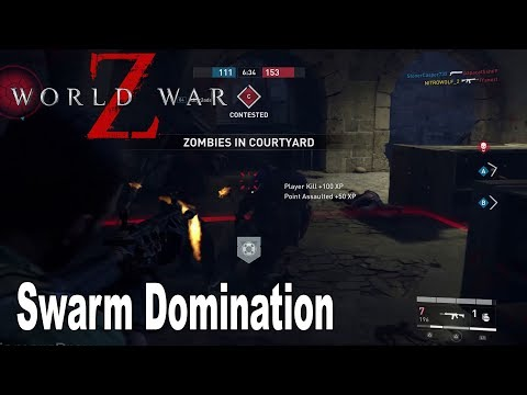 World War Z - Swarm Domination on Old Museum Multiplayer Gameplay [HD 1080P]