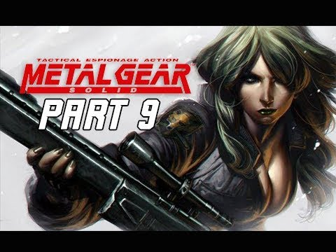 METAL GEAR SOLID Gameplay Walkthrough Part 9 - Sniper Wolf Round 2 (RETRO PSX Classic)