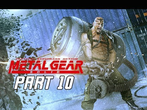 METAL GEAR SOLID Gameplay Walkthrough Part 10 - Vulcan Raven (RETRO PSX Classic)