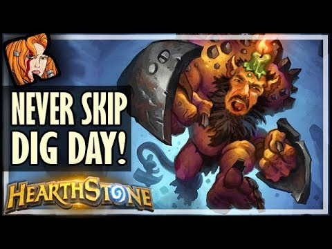 Never EVER Skip DIG DAY! ⛏️ Rise of Shadows Hearthstone