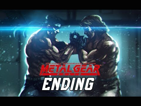 METAL GEAR SOLID Gameplay Walkthrough Part 14 - ENDING + Final Boss (RETRO PSX Classic)