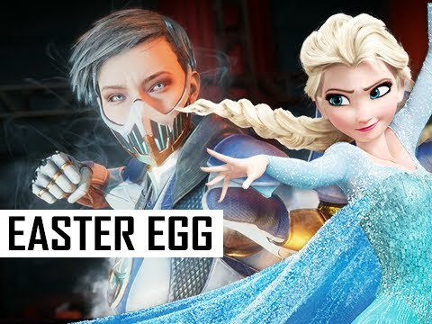 FROZEN ELSA Easter Egg with FROST in Mortal Kombat 11 (MK11 Gameplay)