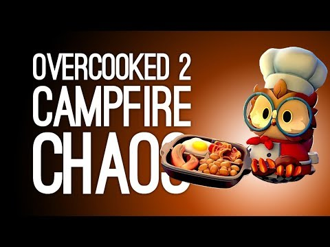 Overcooked 2 Campfire Cook Off Gameplay: S'MORES CHAOS 🏕(Let's Play Overcooked 2 DLC)