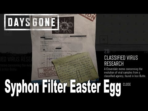 Days Gone - Syphon Filter Easter Egg [HD 1080P]