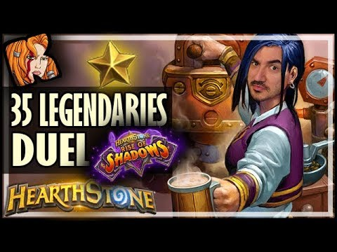 35 LEGENDARY DECK DUEL! - Rise of Shadows Hearthstone
