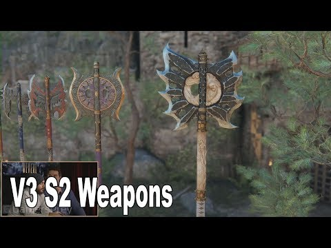 For Honor - V3 Season 2 Weapons Showcase [HD 1080P]