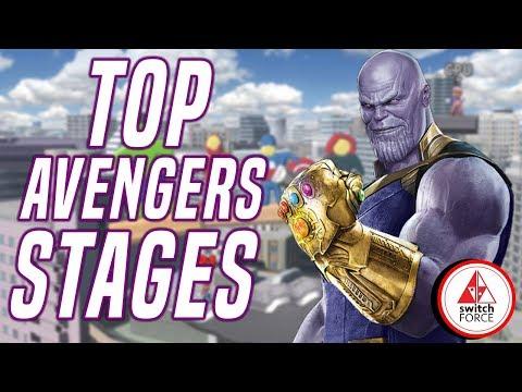 7 Best Avengers Endgame Stages! Smash Bros Ultimate Stage Builder