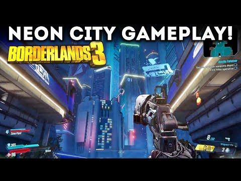 Borderlands 3 - Exploring the Neon City! New Boss Battles! New Gameplay Walkthrough Part 2!