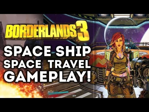 Borderlands 3 - Spaceship and Space Travel Gameplay Walkthrough! Neon City! PS4, Xbox One , PC