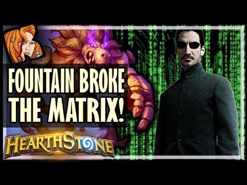 WALKING FOUNTAIN BROKE THE MATRIX - Rise of Shadows Hearthstone
