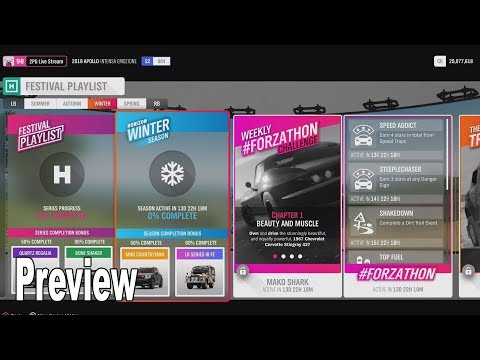 Forza Horizon 4 - Update 9 Festival Playlist Preview [HD 1080P]