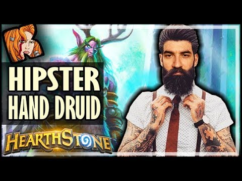 BE HIPSTER WITH HAND DRUID! - Rise of Shadows Hearthstone