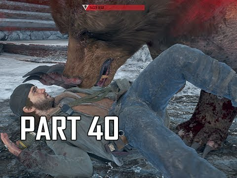 DAYS GONE Walkthrough Part 40 - Rager Bear (PS4 Pro Let's Play)