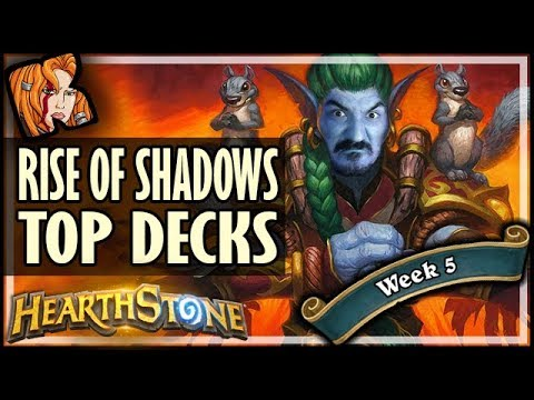 THE 3 BEST LADDER DECKS - WEEK 5 - Rise of Shadows Hearthstone