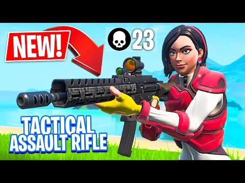 New Tactical Assault Rifle Gameplay! // Pro Fortnite Player // 2,200 Wins (Fortnite Battle Royale)