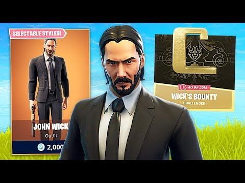 FORTNITE x JOHN WICK!! (Fortnite Battle Royale)