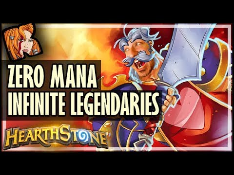 ZERO MANA INFINITE LEGENDARIES?! - Dalaran Heist  - Rise of Shadows Hearthstone
