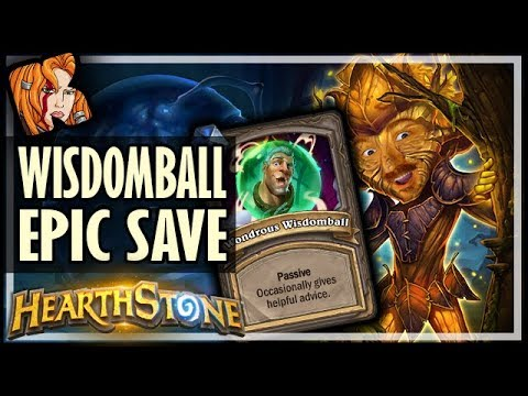 EPIC WONDROUS WISDOMBALL SAVE! - Dalaran Heist - Rise of Shadows Hearthstone