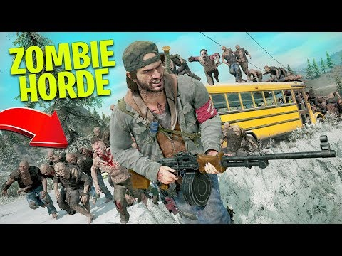 Fighting a ZOMBIE HORDE in Days Gone!