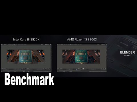 Intel i9 9920X vs AMD Ryzen 9 3900X Blender Demo [HD 1080P]