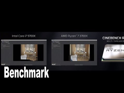 Intel i7 9700K vs AMD Ryzen 7 3700X Cinebench R20 Benchmark [HD 1080P]