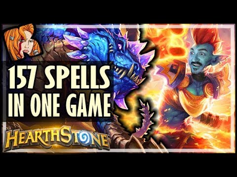 157 SPELLS PLAYED IN A SINGLE GAME! - Rise of Shadows Hearthstone