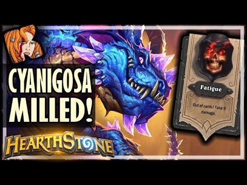 Cyanigosa FULLY MILLED - Dalaran Heist - Rise of Shadows Hearthstone