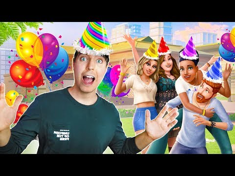 MrBeast Came to My SIMS Birthday Party! (Sims 4)