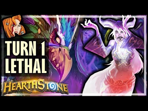 TURN 1 LETHAL COMBO?! Chat Ruined Everything :( - Rise of Shadows Hearthstone