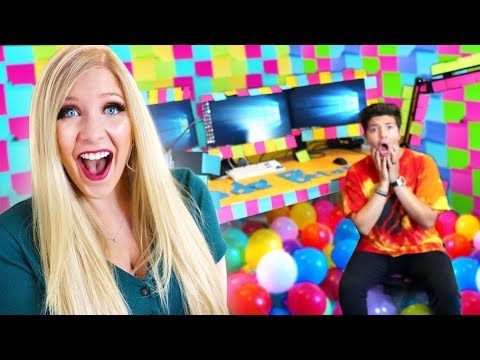 I PRANK PrestonPlayz Office with STICKY NOTES!