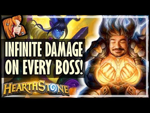 INFINITE DMG ON EVERY BOSS?! - HEROIC Chapter 5 - Rise of Shadows Hearthstone