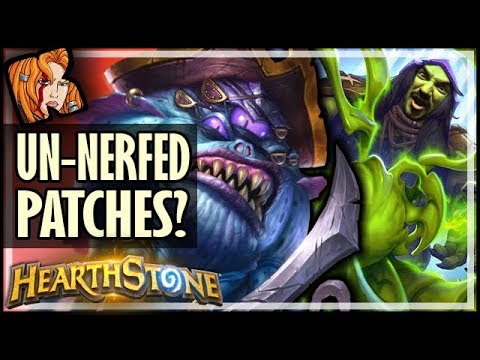 BUG UNNERFS PATCHES?! - Dalaran Heist - Rise of Shadows Hearthstone