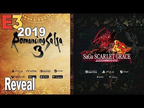 Romancing Saga 3 & SaGa Scarlet Grace: Ambtions - Reveal Trailer E3 2019 [HD 1080P]