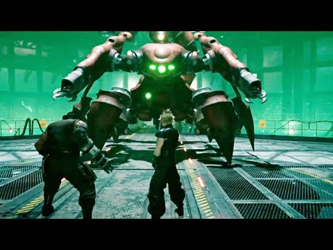FINAL FANTASY 7 REMAKE - E3 2019 FULL Boss Fight Gameplay (Square Enix Conference)