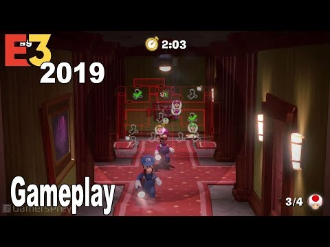 Luigi's Mansion 3 - E3 2019 Multiplayer Gameplay Demo Scarescraper [HD 1080P]