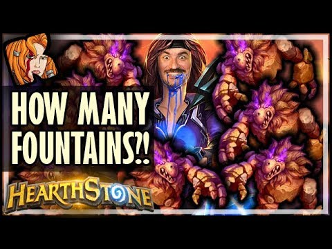 HOW MANY FOUNTAINS IS HE GOING TO PLAY?! - Rise of Shadows Hearthstone