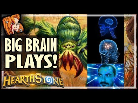 BIG BRAIN WEBSPINNER PLAYS! - Rise of Shadows Hearthstone
