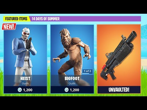 New Bigfoot and Heist Skin! (Fortnite Battle Royale)