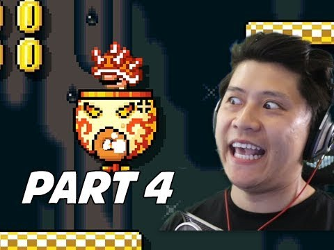 SUPER MARIO MAKER 2 Walkthrough Part 4 - Spike Helmet? (Nintendo Switch)