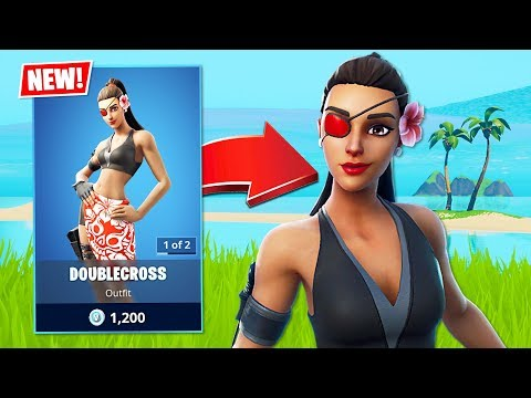 New Summer Secret Agent Doublecross Skin! (Fortnite Battle Royale)
