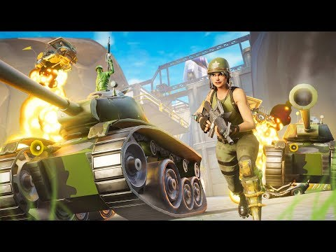 NEW Tank Battle LTM in Fortnite Battle Royale!! (1000 Health)