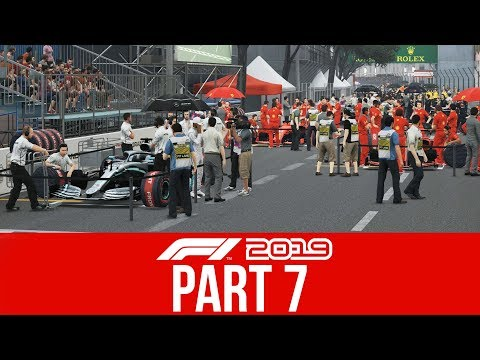 F1 2019 CAREER MODE Part 7 - I CAN'T OVERTAKE (Round 6 MONACO)