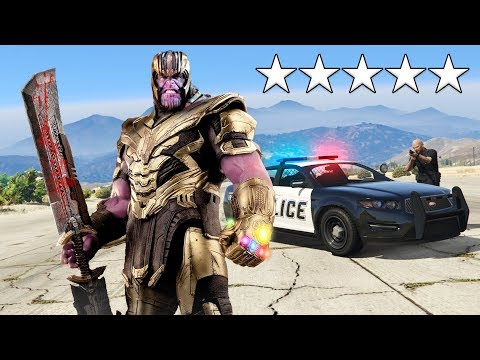 Playing as THANOS in GTA 5! (Avengers Endgame)