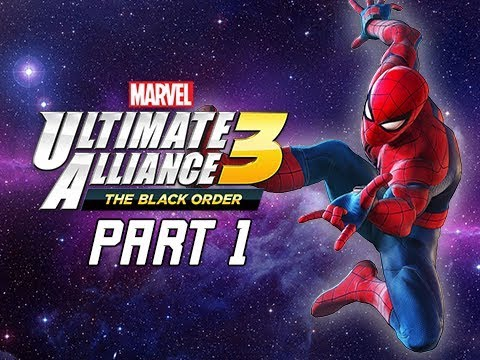 Marvel Ultimate Alliance 3 The Black Order Walkthrough Part 1 - Spider-Man & Infinity Stones