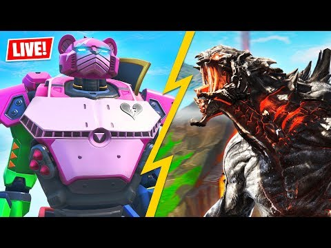 ROBOT vs MONSTER EVENT is HAPPENING NOW!! (Fortnite Battle Royale)