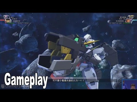 SD Gundam G Generation Cross Rays - New Gameplay Demo [HD 1080P]