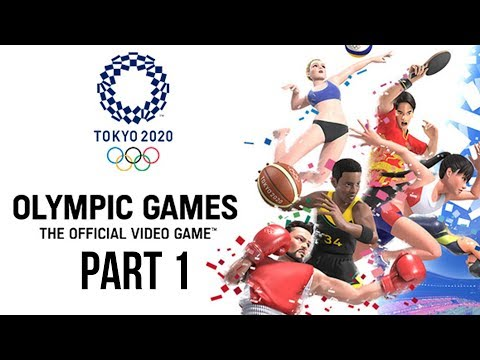 Tokyo 2020 Olympics The Official Video Game Gameplay Part 1 - 100m / Hammer Throw / Long Jump