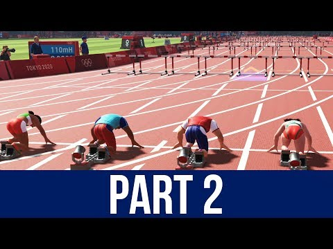 Tokyo 2020 Olympics The Official Video Game Gameplay Part 2 - 110m HURDLES / BOXING / FOOTBALL