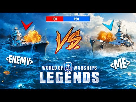 BATTLESHIP vs DESTROYER!! (World of Warships: Legends)