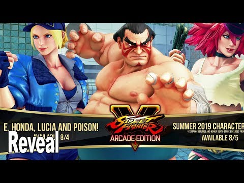 Street Fighter V - E. Honda, Lucia, and Poison Reveal Trailer [HD 1080P]